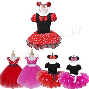 Kids-Girls-Baby-Toddler-Minnie-Mouse-Halloween-Outfits-Cosplay-Dress-Up-Costume