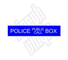 Police Box Public Call vinyl sticker decal car (window optional) tardis dr who