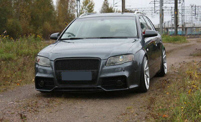 Whole S4 A4 B7 Full Front Bumper Rs Style Bodykit Tuning Black Grill Mesh S Line Ebay
