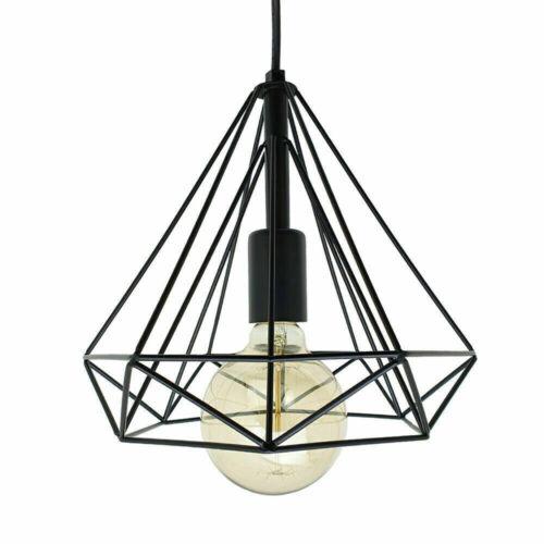 Modern Style Vintage Métal Cage industriel cadre de fil loft Plafond Lumière Pendentif