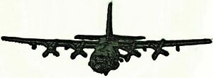 Dark Green AC-130 Specter gunship Plane In Flight Embroidered Patch