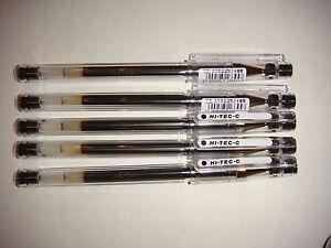 Pilot Hi-Tec-C gel pens 0.3mm (5 black pen)