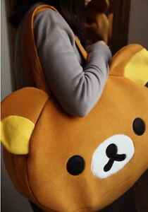 Rilakkuma bear San-X Cute Big Bag Women//Men/'s Handbag Brown Bag gift