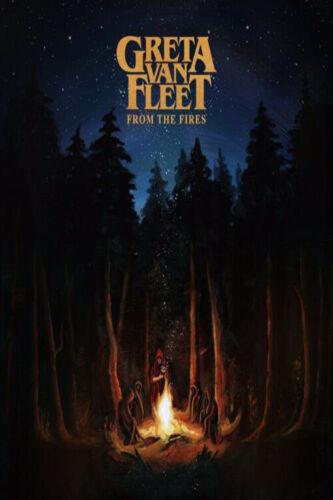 F-1533 Greta Van Fleet From the Fires Music Album Hot Fabric Poster