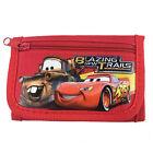 Disney Cars Mc Queen Children boy's Tri Fold Wallet Color Red