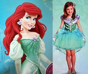 Image is loading New-Disney-Deluxe-Toddler-Costume-PRINCESS-ARIEL-THE-  sc 1 st  eBay & New* Disney Deluxe Toddler Costume-PRINCESS ARIEL-THE LITTLE MERMAID ...
