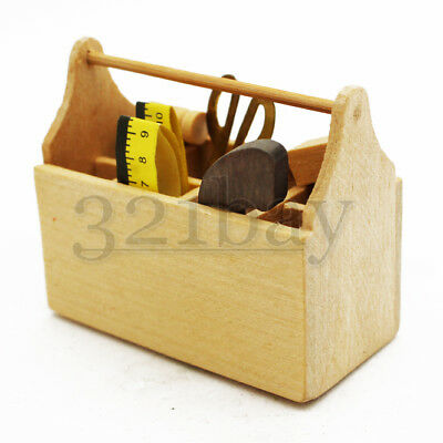 Dollhouse Miniature Wooden Tool Box by Multi Minis