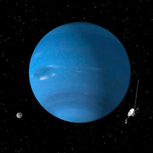 Neptune - 8x8 - 3D Lenticular Postcard Greeting Card - Ready to Hang