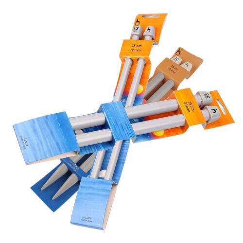 1 Paar Kunststoff Stricknadeln 35 cm gerade in verschiedenen Stärken