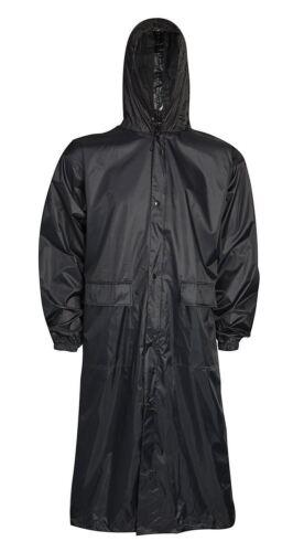 Herren Schlicht Mac Langer Mantel Regenmantel Mit Kapuze Wasserfeste Leichte