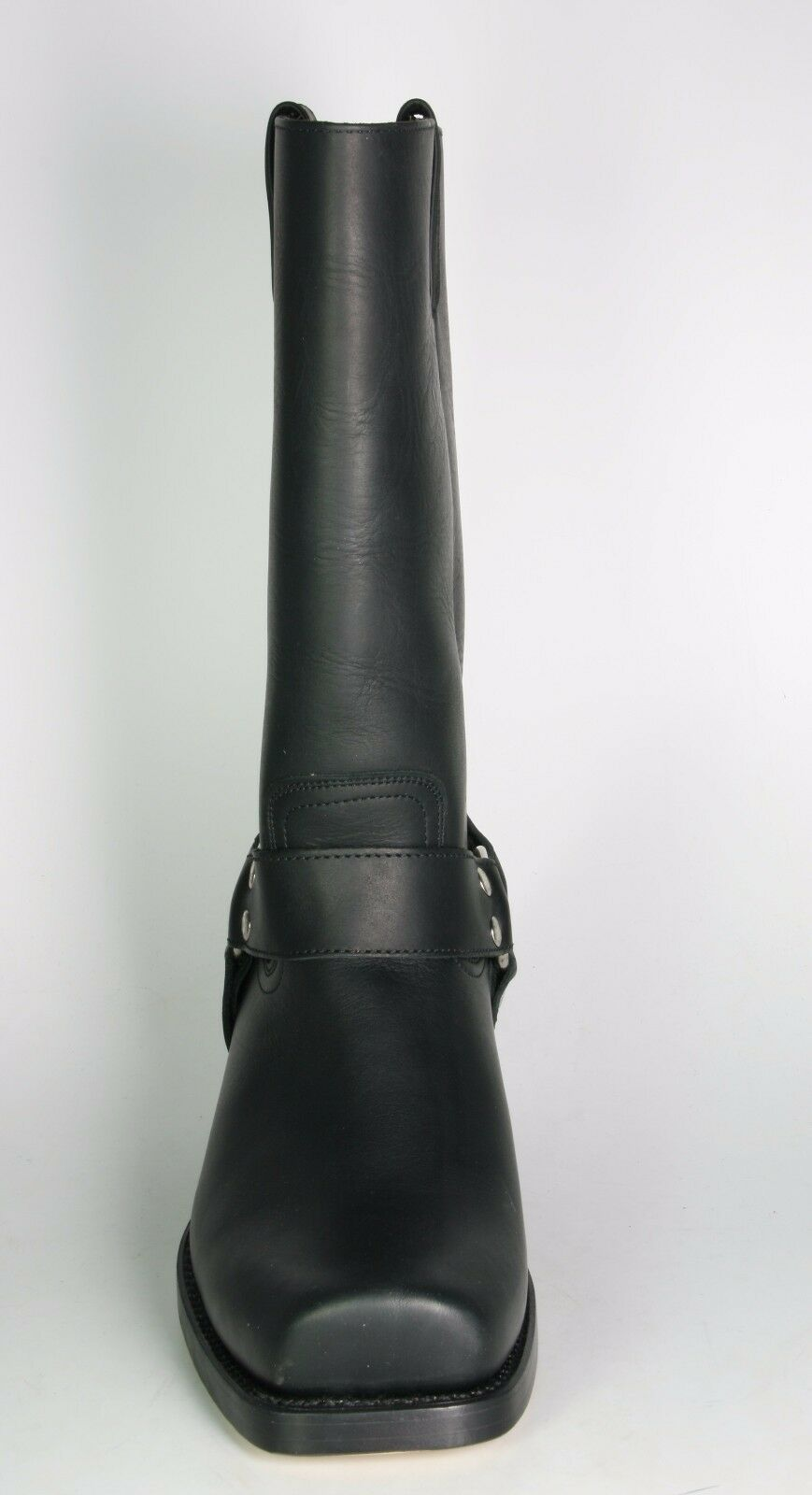 0541 sancho Bottes Motard Monténégro Noir Cadre cousue cousue cousue Bottes en cuir véritable 45b026