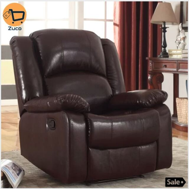 Glider Leather Recliner Chair Living Room Sofa Lounge Lazy Couch Boy  Furniture