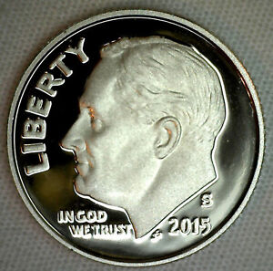 2018 S 90/% Silver Proof Roosevelt Dime Ten-Cent Coin 10c from Silver Proof Set
