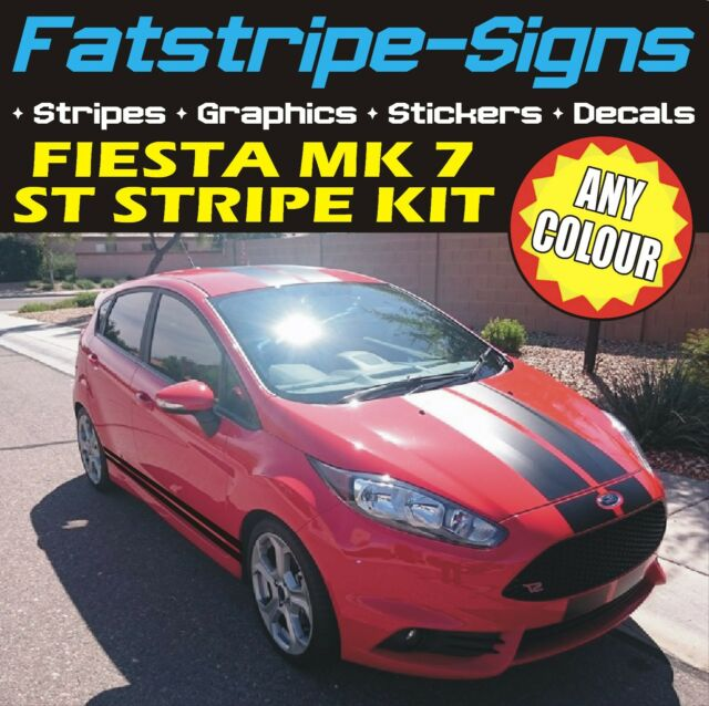 Ford fiesta mk7 stripes st car vinyl graphics decals viper racing stickers 1 6 t