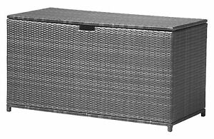 Häufig XXL Polyrattan Auflagenbox Havanna Gartenbox Gartentruhe Kissenbox YI89
