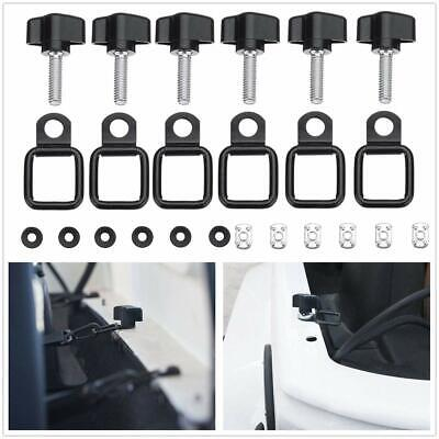 Set Of 8 Hard Top Quick Removal Thumb Screw Kit For Jeep Wrangler CJ YJ TJ JK #B
