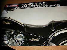 "Yamaha  SPECIAL  XV - XS- SR  - brochure -prospekt  ""multilingua"""