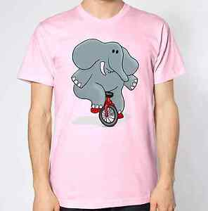 Elephant Riding Bike T-Shirt Abstract Animal Lover Colorful Funny Hilarious