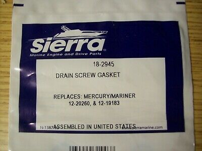 12pc Lower Gearcase Drain Gasket Replaces Mercury Mercuiser 12-19183 3 /& 18-2945
