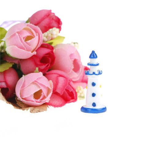 1pc Mini lighthouse seaside Miniature Fairy Garden Ornament Decor Craft In UK