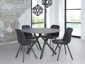 Julian Runder Esstisch Esszimmertisch Tisch O 120 Cm Beton Dekor