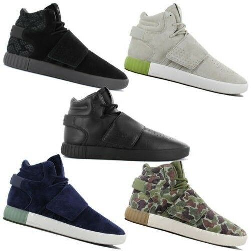 Adidas Originals Tubular High Invader Strap Men's Shoes High Tubular mid Sneaker Leather New 727e47