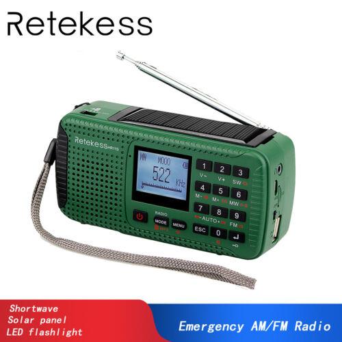 FM//SW Radio Hand Crank Emergency Bluetooth MP3 Player Digital Record Sleep Timer