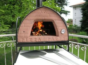 Original Pizza Party wood fired pizza oven Bronze, ready to use ...