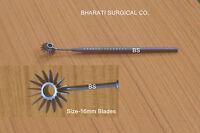 tit  Radial marker optical zone  semi sharp  marking  2 to 16 blades