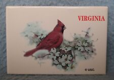 Red Cardinal Bird Virginia Magnet, Souvenir, Travel, Refrigerator