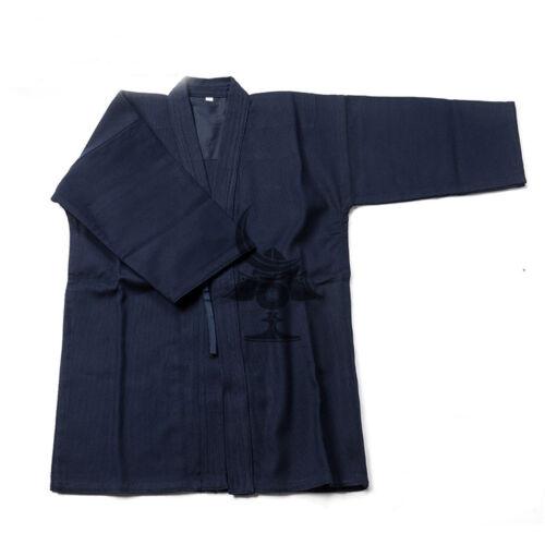 Blue Cotton Kendo Aikido Martial Arts Uniforms Laido Kimono Tops and pantskirt