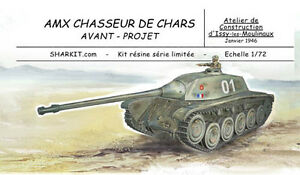SHARKIT-AMX-CDC-chasseur-de-char-projet-1946-1-72-resine