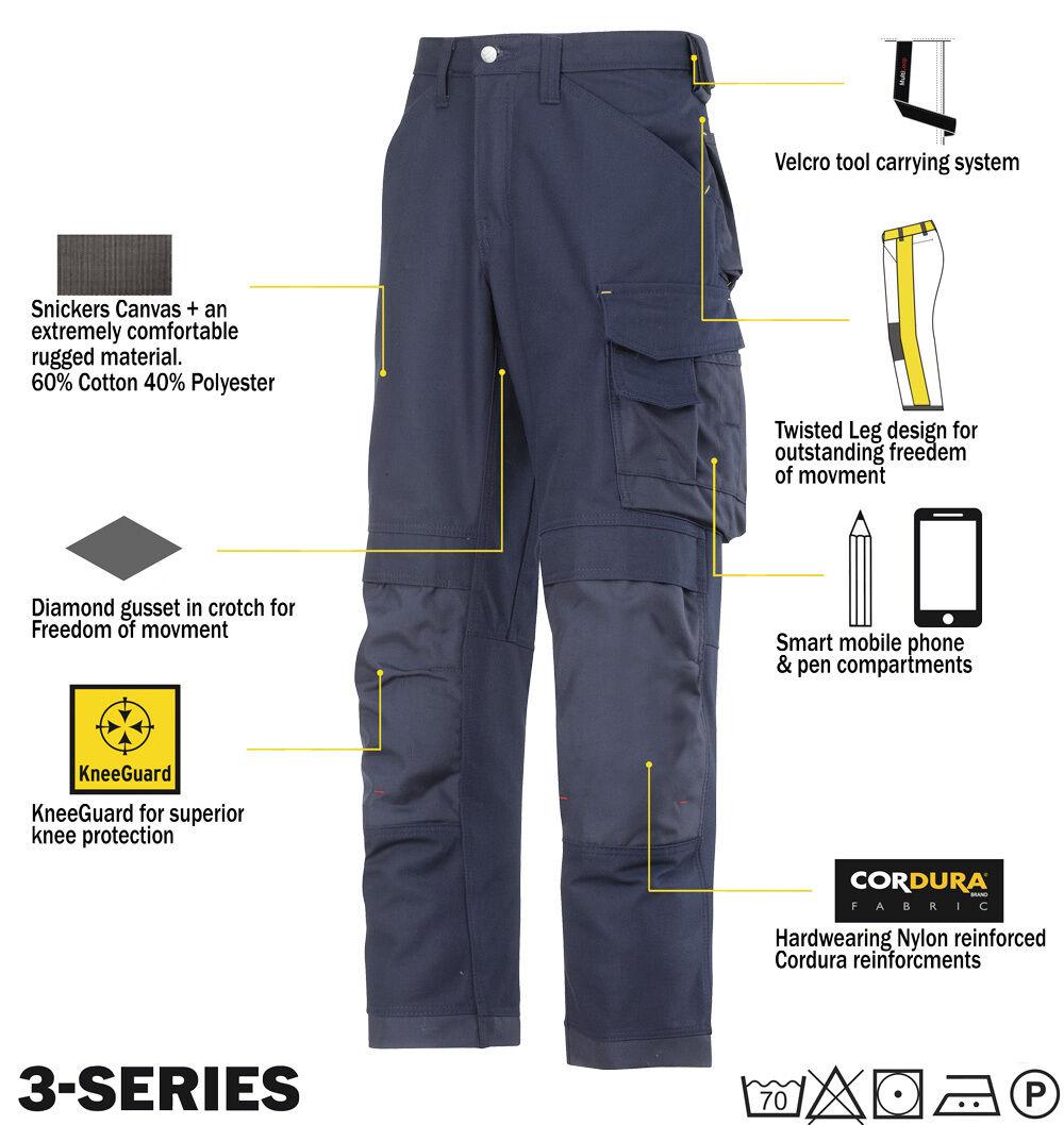 SNICKERS 3314 Pantaloni tela pantaloni da scuro lavoro Snickers DIRETTO blu scuro da 45f593