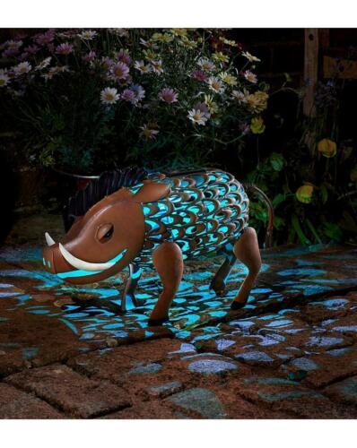 fonction Phacochère Jardin Silhouette DEL Energie Solaire Outdoor cochon Ornement Jardin