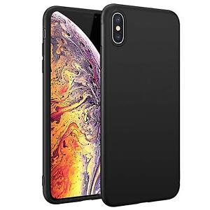 Ultra-Slim-Case-iPhone-X-XS-Handy-Huelle-Schutzhuelle-Silikon-Cover-Schwarz-Tasche