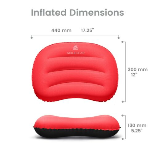 Agile Gear Camp Pillow-Gonflable Ultralight camping et la randonnée Sleeping