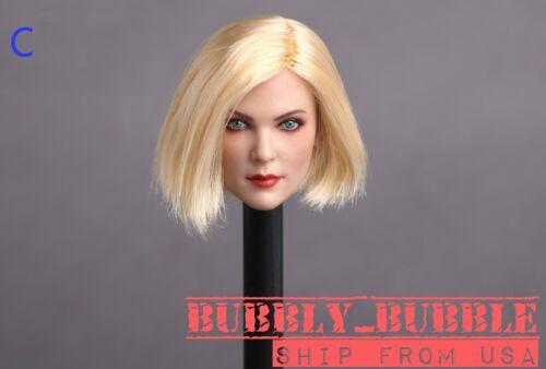 1//6 Female Head Sculpt C cheveux blonds pour PHICEN Hot Toys figure navire de USA