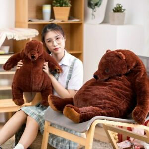 100cm giant simulation DJUNGELSKOG bear toy Brown Teddy Bear Stuffed Animal doll