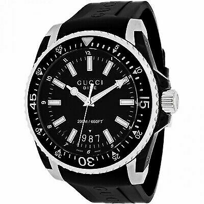 489f8519875 Gucci Dive Black PVD Mens Watch - YA136204 for sale online