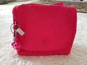 Kipling-Kichirou-Insulated-Lunch-Bag-Vibrant-Pink-Furry-Monkey-Keychain-NWT
