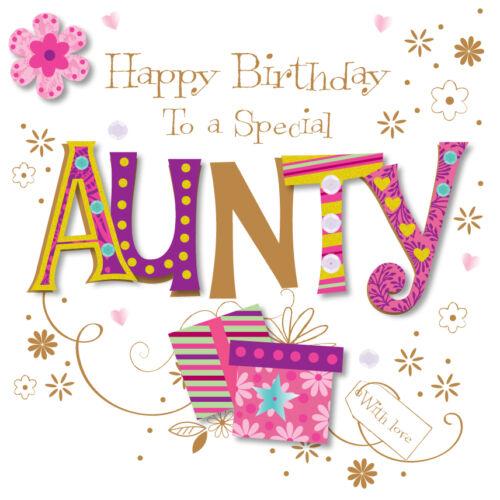 Carte de voeux de joyeux anniversaire spéciale Aunty en parlant de photos cartes