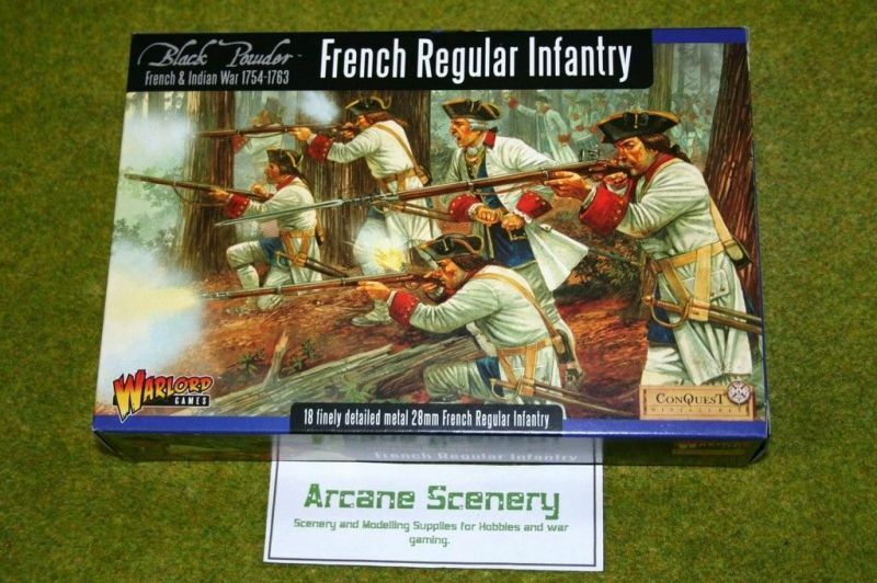 French & Indian Wars FRENCH REGULAR INFANTRY Warlord Games 28mm