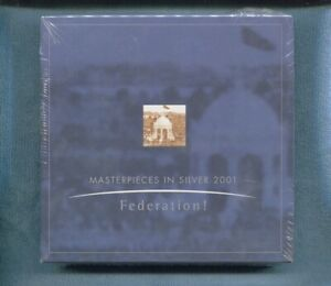 2001 Masterpieces in .999 SILVER Federation 6 Coin Set Still SEALED Australia