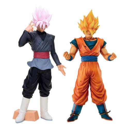 DRAGON BALL Z Goku Black und Goku Super Saiyan Grandista Figuren Größe 31 cm.