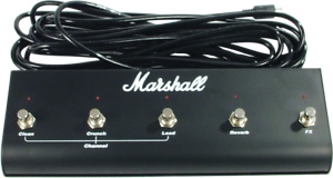 Marshall-Footswitch-5-Button-with-LED-6-Pin-DIN-Plug