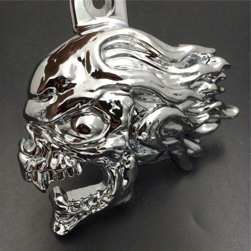 """Chrome Skull head horn cover For 92-16 Harley w//side mount /""""cowbell/"""" all V-rod/'s"""