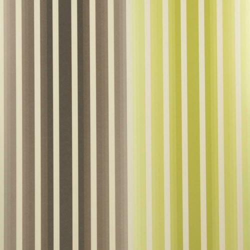 Harlequin Chocolate Lime Wallpaper Striped Gold Shimmer Brown Green Vintage