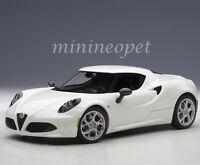 Autoart 70188 Alfa Romeo 4c Composite 1/18 Model Car White