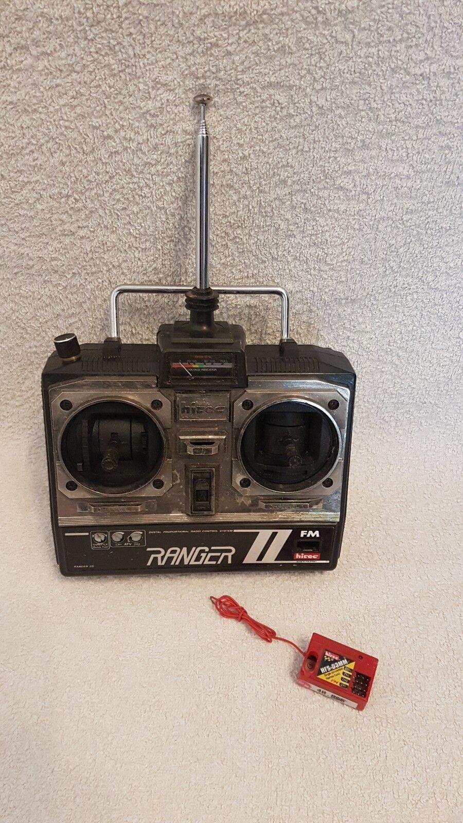 HITEC Ranger 2S II 40Mhz Radio FM RC R/C Trasmettitore + Ricevitore Automobili Barche