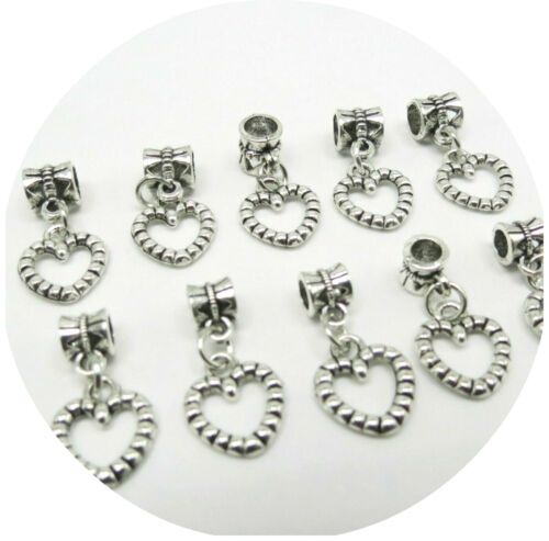 NEW ARRIVAL JEWELLERY MAKING FINDINGS CONNECTORS BEAD WITH HEART CHARM SET